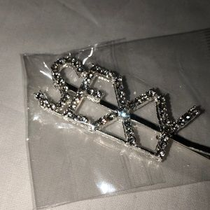 "Accessories - Crystal Bling ""SEXY"" Barrette Hair Bobby Pin"